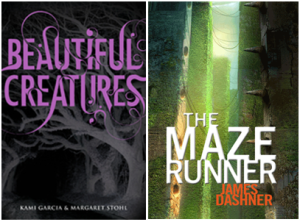 beautiful creatures and maze runner