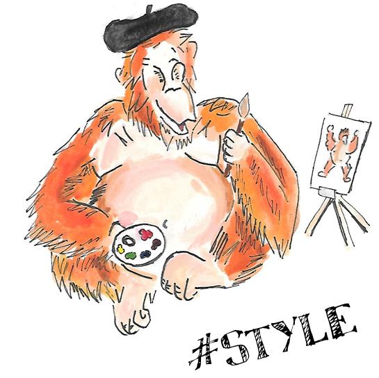 style orangutan logo