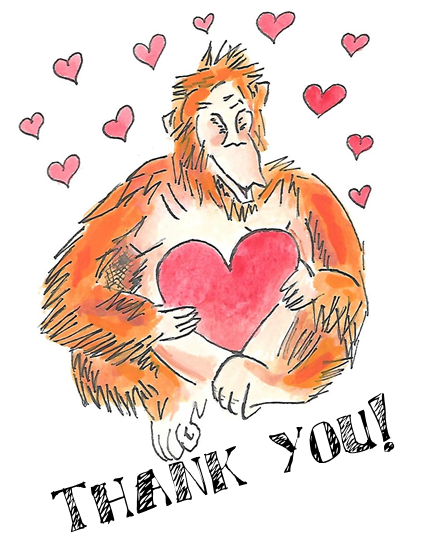 orangutan thank you
