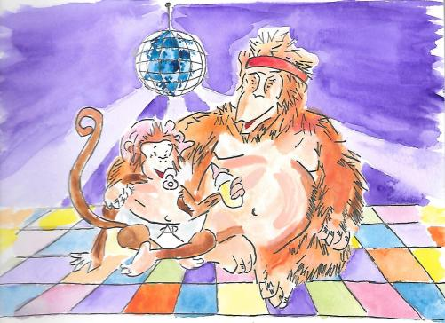 orangutan and monkey baby disco0003