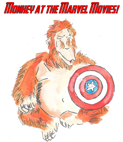 monkey at the marvel movies