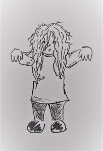 my hair cartoon